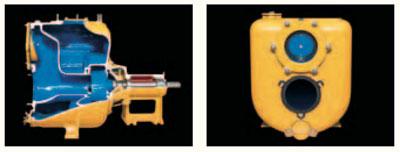 Varisco J. Прочный корпус из чугуна, бронзы или нержавеющей стали. Крышки для заливки, опорожнения и осмотра рабочего колеса легко открываются.