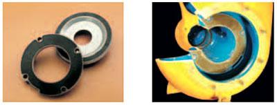 Varisco J. Легкая замена компенсационной пластины, изготовленной из чугуна, чугуна с покрытием из абразивоустойчивой резины, бронзы или нержавеющей стали.
