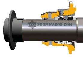 одинарное механическое уплотнение с промывкой шнекового насоса Varisco Vulcan