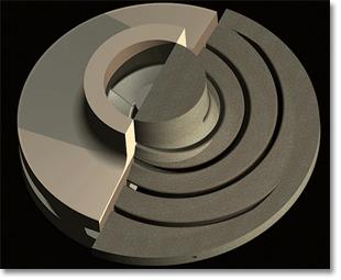 Модель 3-D крыльчатки по индивидуальному заказу